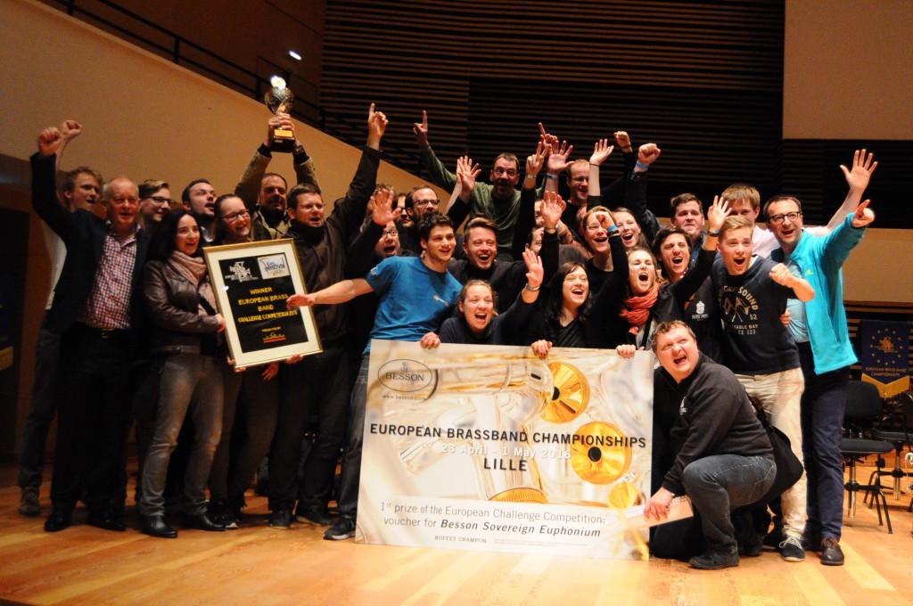(C) Brass Band Sachsen | Siegerfoto der Brass Band Sachsen im Noveau Siècle Lille (Frankreich)