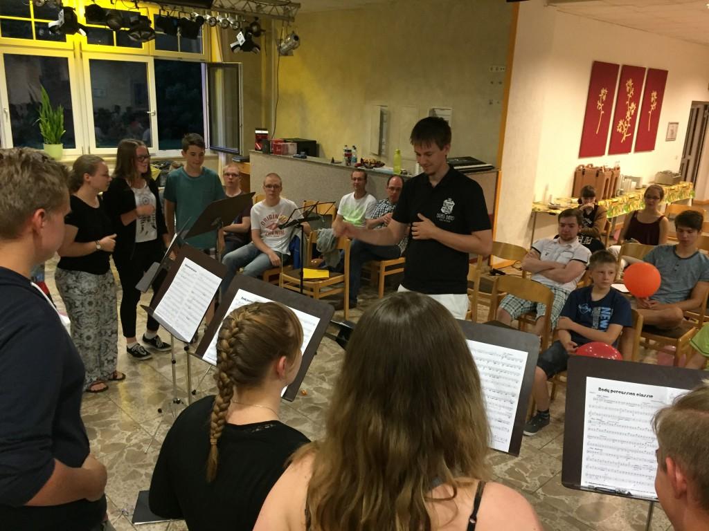Body Percussion: Workshop-Gruppe für fortgeschrittene Blechbläser und Schlagwerker