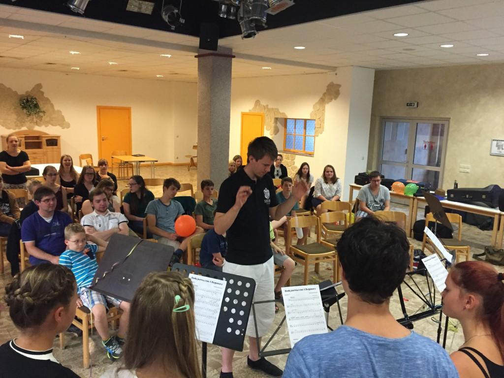 Body Percussion: Workshop-Gruppe für junge Blechbläser und Schlagwerker