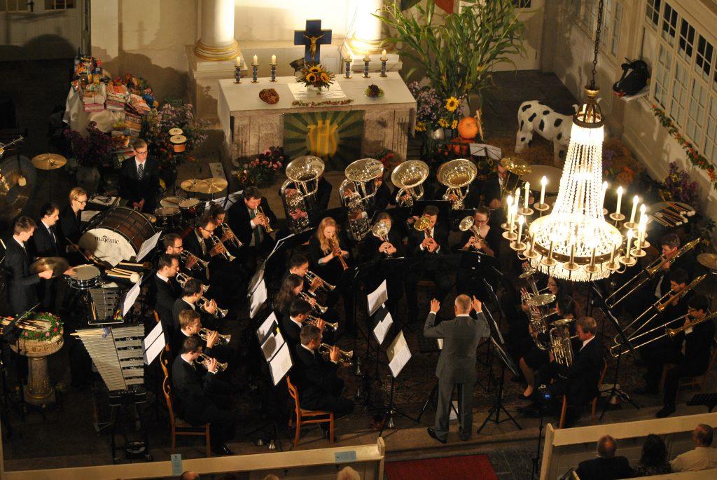 (C) VSB | Brass Band Sachsen unter Leitung von Prof. Bryan Allen in Mildenau