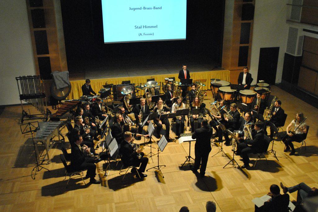 (C) VSB e.V. | Die Jugend-Brass-Band-Workshop-Teilnehmer während ihres Konzertteils