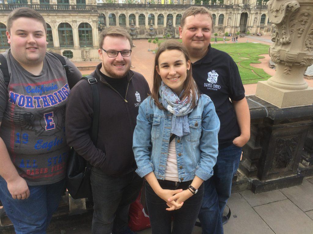 (C) VSB e.V. | Eoin, Lewis, Anna und Erik im Dresdner Zwinger